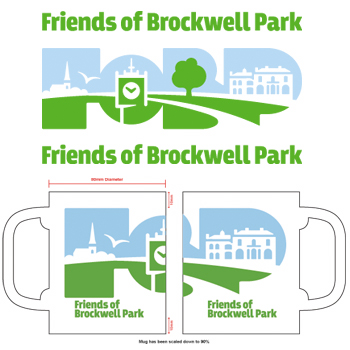 Promotional merchandise produced by Thin Air for Brockwell Park