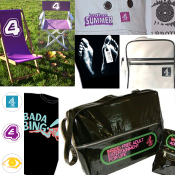 Promotional merchandise produced by Thin Air for Channel 4